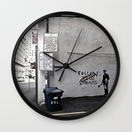 Dreams Cancelled Wall Clock