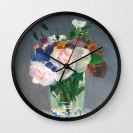 "Édouard Manet ""Flowers in a Crystal Vase"" Wall Clock"