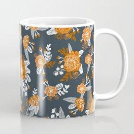 Texas longhorns orange and white university college texan football floral pattern Coffee Mug