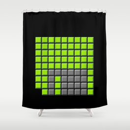 Floppy Buttons Shower Curtain