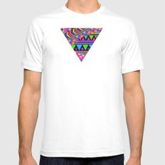 NEON MEDIUM Mens Fitted Tee White