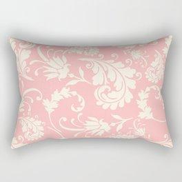 Vintage pink ivory chic floral damask pattern Rectangular Pillow