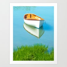 serene boat scene#3 Art Print