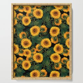 Helianthus Annuus II Serving Tray