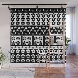 Japanese Style Kawaii Stars Patchwork Wall Mural