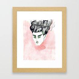 Windy Falling Head Framed Art Print