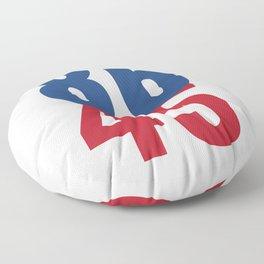 86 45 Anti Trump Impeachment T-Shirt / Politics Gift For Democrats, Liberals, Leftists, Feminists Floor Pillow