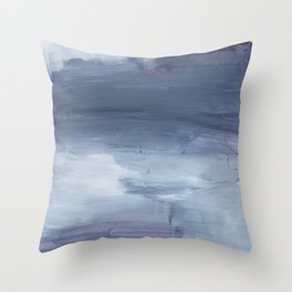Number 80 Abstract Sky Throw Pillow