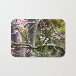The little bird in the blossom tree Bath Mat