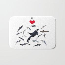 I love dolphins Bath Mat