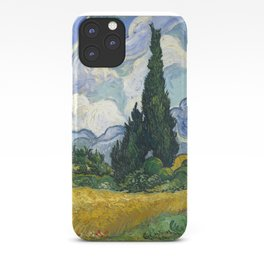 Van Gogh, Wheat Field with Cypresses, 1889 iPhone Case