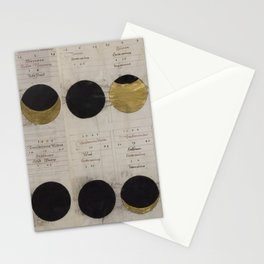 Gold Eclipse Stationery Cards