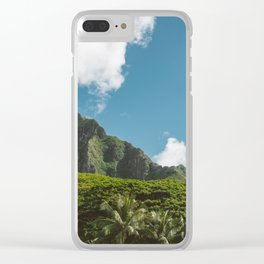 Hawaiian Mountain Clear iPhone Case