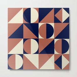 a study in polygons (navy/dusk/cream) Metal Print