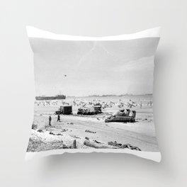 Normandy Invasion (Omaha Beach) Throw Pillow