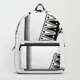 Zentangle A Monogram Alphabet Initials Backpack