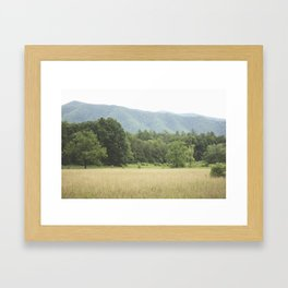 Cades Cove in the Smokey Mountains Framed Art Print
