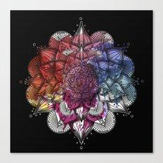Floral Mandala Canvas Print