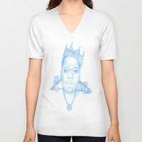 notorious V-neck T-shirts featuring Notorious by Michael Villalobos