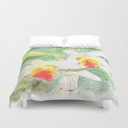 Dendrobium Heterocarpum Duvet Cover