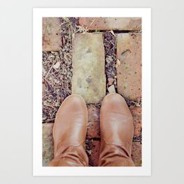 Winter Boots Art Print