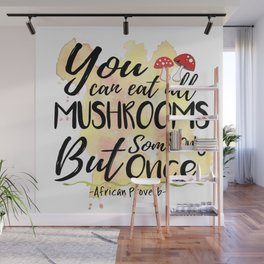 Mushrooms Wall Mural