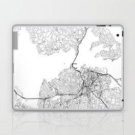 Auckland White Map Laptop & iPad Skin