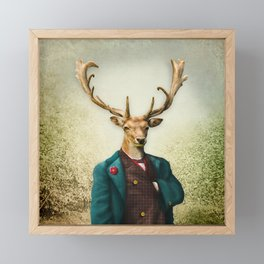 Lord Staghorne in the wood Framed Mini Art Print