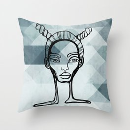 Outlined Throw Pillow