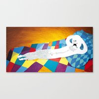 naked Canvas Prints featuring naked by IBANEZ