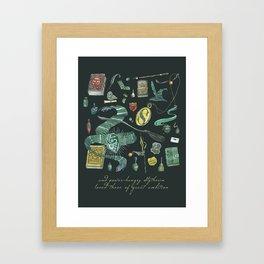 Slytherin House Framed Art Print