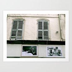 A walk in Marseille Art Print