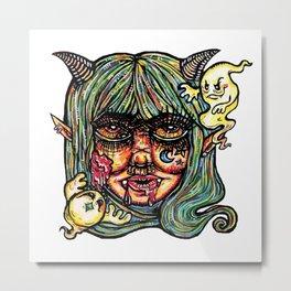Haunted Lil Devil Metal Print