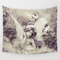 fairy Wall Tapestries featuring Fairy by Malice of Alice