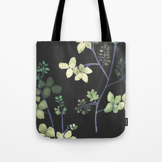 Olive Flowers Tote Bag