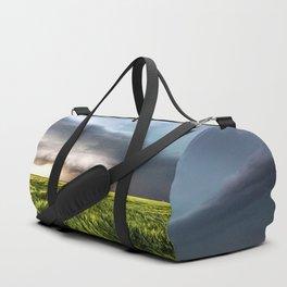 Leoti's Masterpiece - Incredible Storm in Western Kansas Duffle Bag