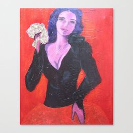 the Lady with the Fan Canvas Print