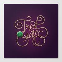 treat yo self Canvas Prints featuring Treat Yo Self by Nana Adwoa Sey