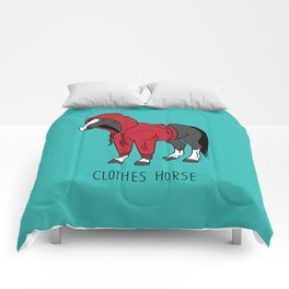 Clothes Horse Red Comforters