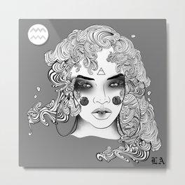 Extra Terrestrial Aquarius Goddess Metal Print