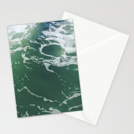 Sea Foam Green Ocean Wave Photograph Stationery Cards