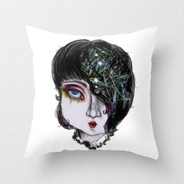 snowstars in her hair Throw Pillow