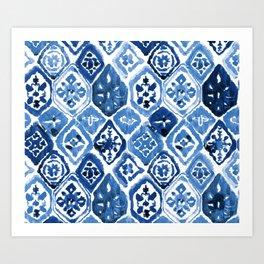 Arabesque tile art Art Print