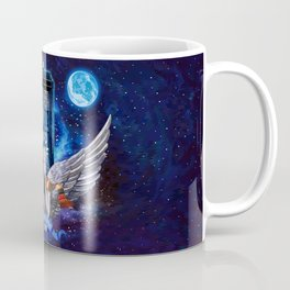 The Angel with Tardis Coffee Mug
