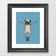 Hang in There Baby Framed Art Print