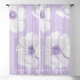 Anemones 2 #society6 #buyart Sheer Curtain
