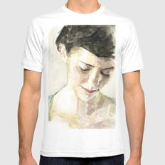 Amelie Poulain  X-LARGE White Mens Fitted Tee