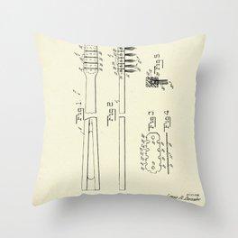 Toothbrush-1953 Throw Pillow