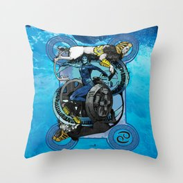 "Ars Tarot of the 12 Zodiac: ""Cancer - The Chariot"" Throw Pillow"