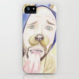 Jared Padalecki, watercolor painting iPhone Case